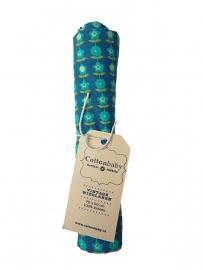 Cottonbaby wieglaken vintage print blauw