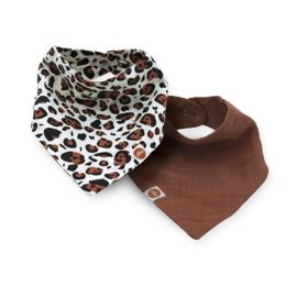 Jollein Slab bandana hydrofiel leopard natural