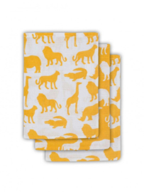 Jollein hydrofiel washandjes Safari oker geel
