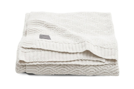 Jollein ledikant deken River Knit cream white