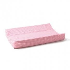 Cottonbaby aankleedkussenhoes ruit roze
