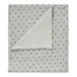 Cottonbaby wiegdeken driehoekjes grijs