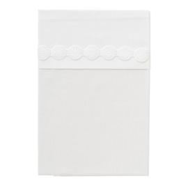 Cottonbaby ledikantlaken wit met mandalakant rand