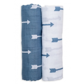 Lulujo Swaddle Blue Arrows
