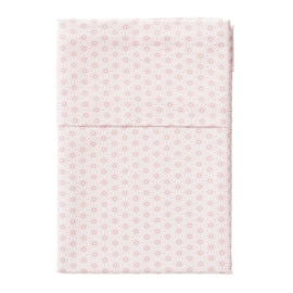 Cottonbaby wieglaken wit / roze triangel