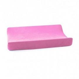 Cottonbaby aankleedkussenhoes velours roze