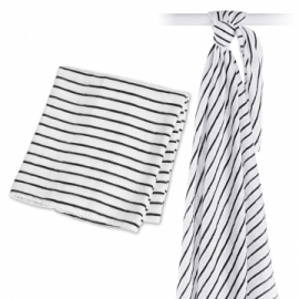 Lulujo swaddle bamboo Black Stripes