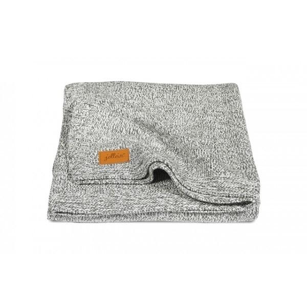 Jollein wiegdeken Stonewashed knit grijs