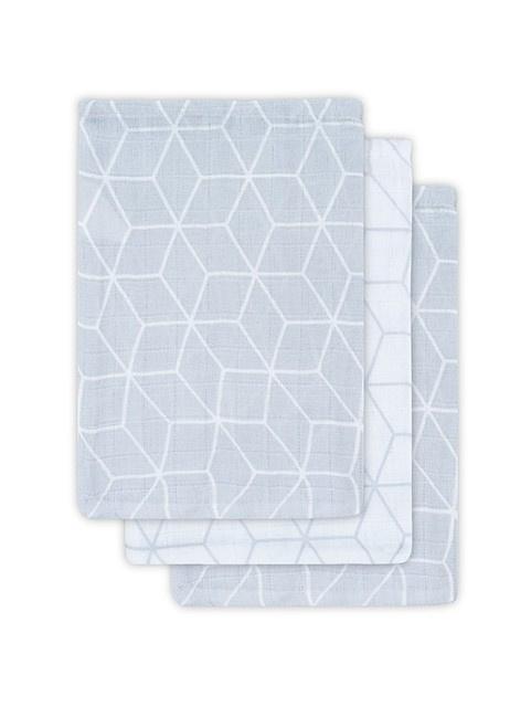 Jollein hydrofiele washandjes craphic grijs