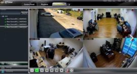 Beveiligingscamera met scherm