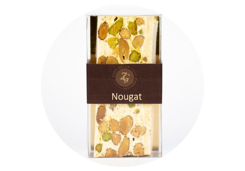 Naturel pistache amandelen nougat