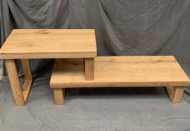Eikenhouten tv meubel verstelbaar