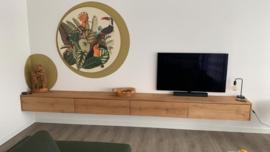 Zwevend eiken tv meubel Ibiza