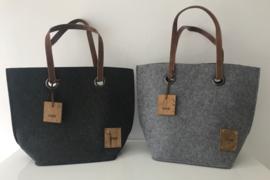 Wooden felt bag