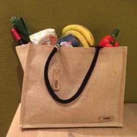 Wooden Jute bag
