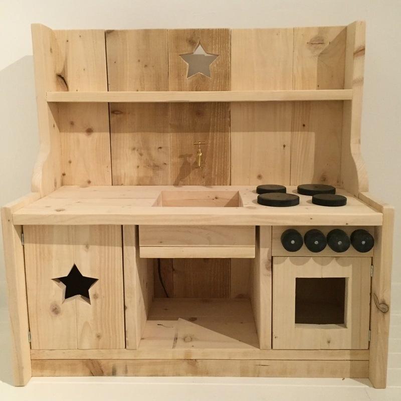 Kinderkeukentje steigerhout (blank)