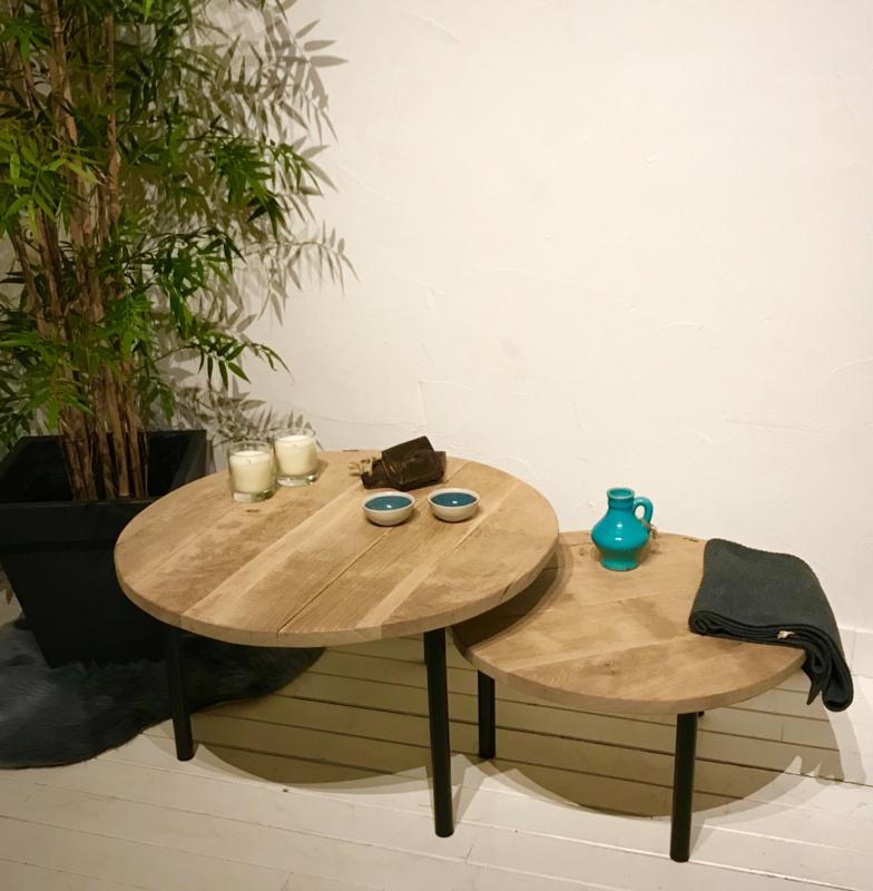 Eiken salon tafel Baros