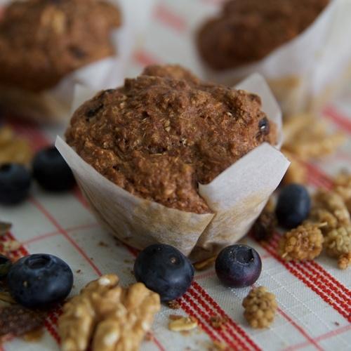 Ontbijt muffin mix in twee smaken.