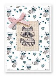 Postcard raccoon