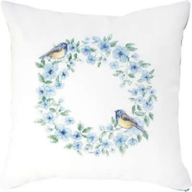 cushion bird blue