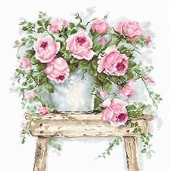 Flowers on a stool