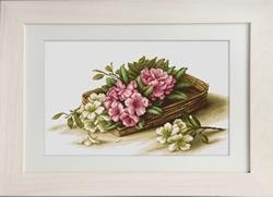 Basket with azaleas