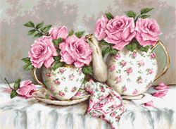 Morning tea and roses