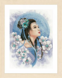 Asian lady in blue