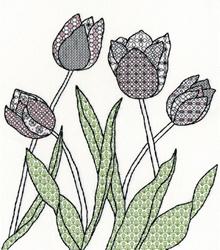 Blackwork - Tulips