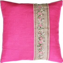 cushion Rose banner pink