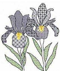 Blackwork - Irises