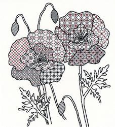 Blackwork - Poppy