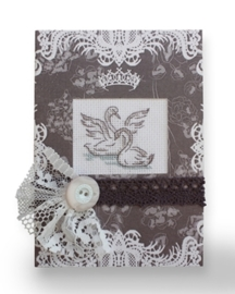 Postcard swans square
