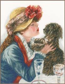 Meisje met hondje