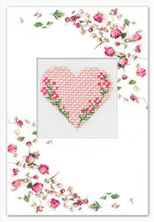 Postcard valentine's day heart