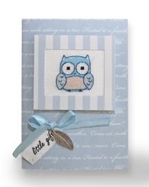 Postcard blue owls
