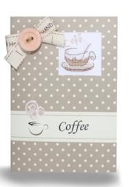 Postcard coffee cup