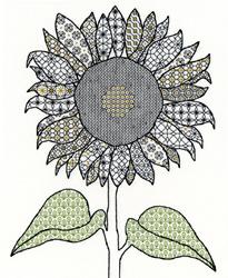 Blackwork - sunflower