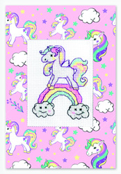 Postcard unicorn rainbow