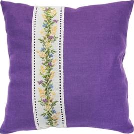 cushion flowers purple