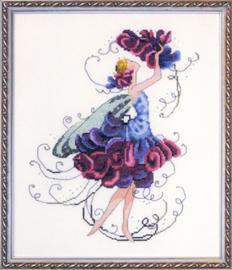Sweet PeaVouwblad met 1 patroon Afmeting: 128 x 169 kruisjes = 20 x 27 cm op 12,6 draads stof  Artikelnummer: md-nc131  Trefwoorden: vrouwenfiguren