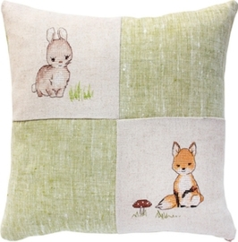cushion bunny and fox