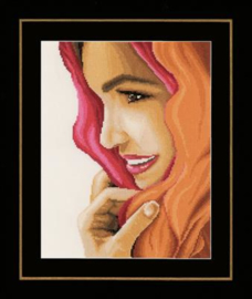 Vrouw met rode sjaal