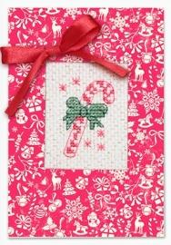 Postcard christmas candy