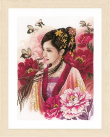 Asian lady in pink