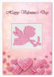 Postcard valentine's day cupid