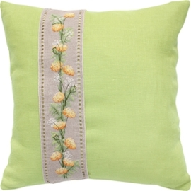 cushion flowers green