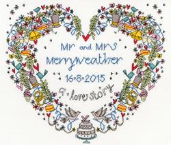 Samplers - Wedding heart