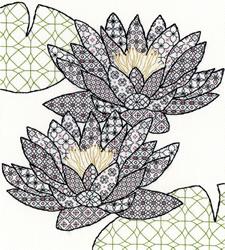 Blackwork - Water lily
