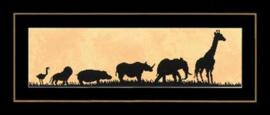 Optocht van wilde dieren